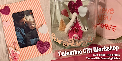 Valentine Picture Frame and Polymer Clay Jar Scene Crafts