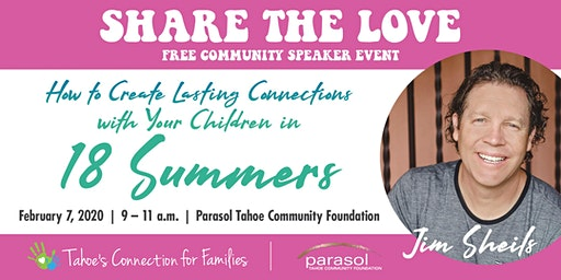 TCF's Share the Love Community Event with Author & Speaker Jim Sheils