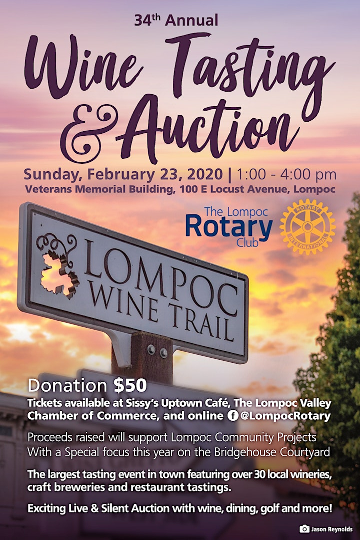 Lompoc Rotary 34th Annual Wine Tasting and Auction image
