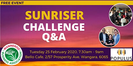 FREE Business Networking Sunriser Challenge Q&A tickets