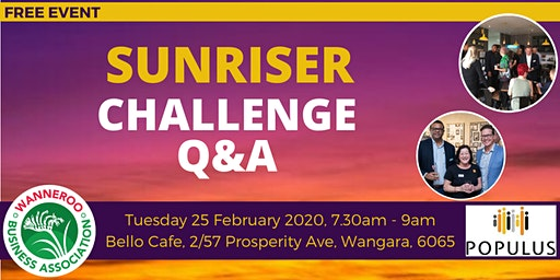 FREE Business Networking Sunriser Challenge Q&A