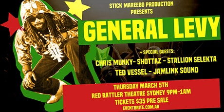 GENERAL   LEVY  ( UK) tickets