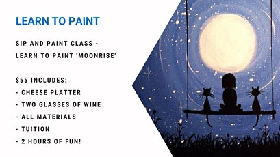 Grab a glass of wine and learn to paint 'Moonrise' tickets