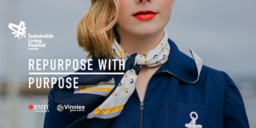 How can Vinnies work with fashion designers to 'repurpose with purpose'?