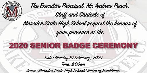 2020 Senior Badge Ceremony