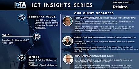 IoTAA - IoT Insight Series  - Sustainable  Utilities,  @Deloitte tickets