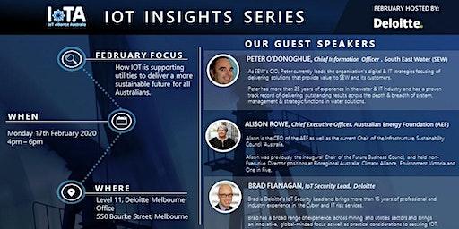 IoTAA - IoT Insight Series  - Sustainable  Utilities,  @Deloitte