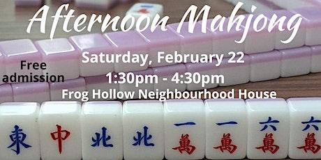 Afternoon Mahjong tickets