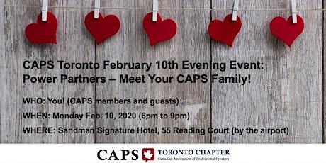 CAPS Toronto (Feb 10): Power Partners - Meet your CAPS family! tickets