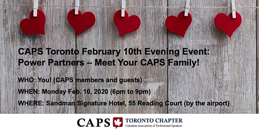 CAPS Toronto (Feb 10): Power Partners - Meet your CAPS family!