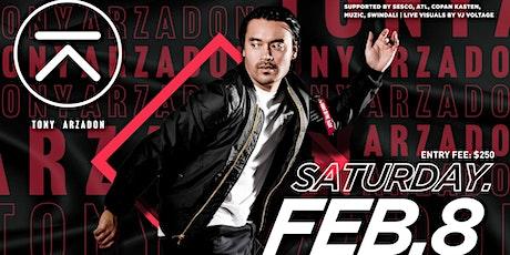 2020.02.08 Tony Arzadon tickets