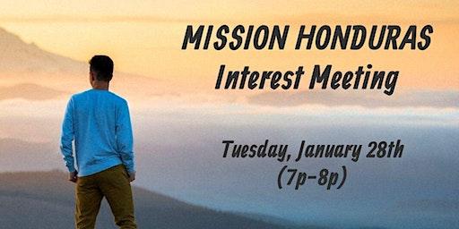 Mission Honduras Interest Meeting