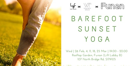 Barefoot Sunset Yoga at Funan Rooftop tickets