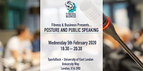 Fitness & Business Taster... Posture and Public Speaking tickets