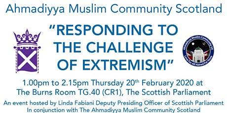 """""""RESPONDING TO THE CHALLENGE OF EXTREMISM"""" tickets"""
