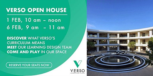 VERSO Open House - Come visit us and play in our learning spaces