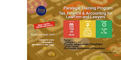 (PAID TRAINING) TAX,FINANCE & ACCOUNTING FOR LAWFIRM AND LAWYERS tickets