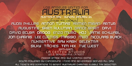 LOS ANGELES UNITED FOR AUSTRALIA - FINAL LINE UP! tickets