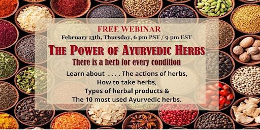 Webinar: The power of plants - How & why Ayurvedic herbal treatments work?