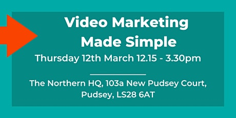 Video Marketing for Small Business Owners - Afternoon Workshop (Early Bird) tickets