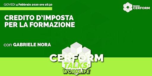 #CerformTalks - Credito d'imposta per la formazione