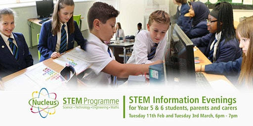 Nucleus STEM Information Evening for Primary Students, Parents and Carers