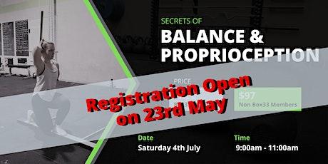 Balance & Proprioception tickets