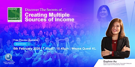 [Financial Seminar] The Secrets of Creating Multiple Streams of Income tickets