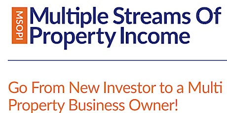 Multiple Stream of Property Income - 3 Day Workshop  tickets