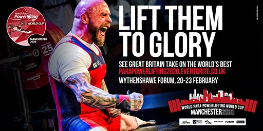 Manchester 2020 Road to Tokyo Para Powerlifting World Cup