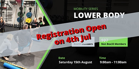 Lower Body Mobility - Mobility Master Class Series tickets