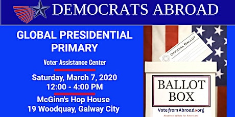 Vote in US Presidential Primary w Democrats Abroad tickets