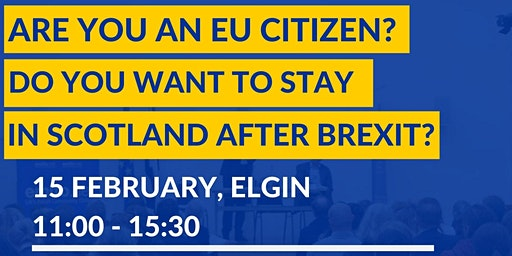 EU Settlement Scheme information and support session in Elgin