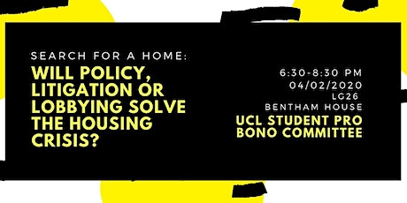 Will Policy, Litigation or Lobbying Solve the Homelessness Crisis? tickets