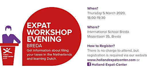 Expat Workshop Evening in Breda: Taxes and Learning Dutch
