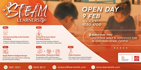 LEARNERS Open Day for STEAM tickets