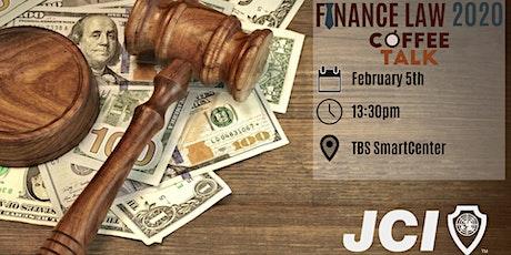 Finance Law 2020 - Coffee Talk billets