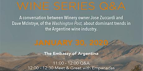 WINE SERIES Q&A: JOSE ZUCCARDI & WASHINGTON POST COLUMNIST DAVE  MCINTYRE tickets