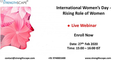 [Webinar] International Women's day – Rising Role of Women tickets
