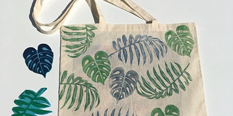 Lino cutting and printing onto your very own tote or zip up make up bag! tickets