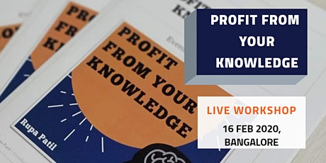 Workshop: Profit From Your Knowledge tickets