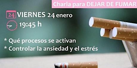 charla para dejar de fumar  tickets