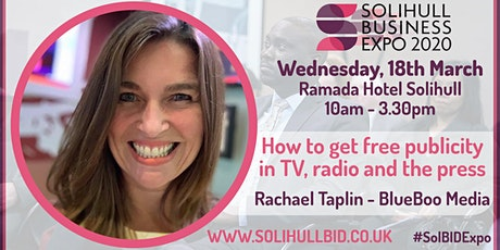 How to get free publicity in TV, Radio and the press - #SolBIDExpo  tickets