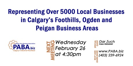 Peigan Area Business Association PABA February 2020 Meeting tickets
