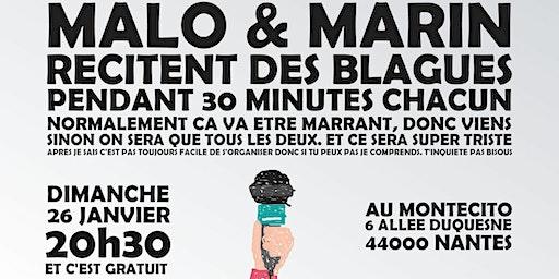 Spectacle d'humour - Malo et Marin font 30 minutes de blague chacun