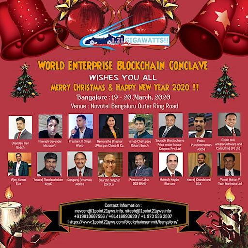 World Blockchain Conclave, Bangalore on 19-20 March