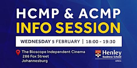 HCMP & ACMP Information Session - Maboneng | #HenleyAfrica tickets