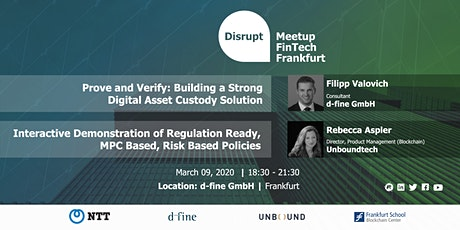 Disrupt Meetup | Custody of Digital Assets tickets