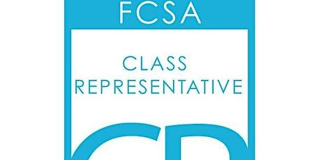 FCSA Class Rep Training February 2020 Kirkcaldy tickets