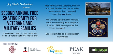 Joy Skate Productions Free Skating Party for Veterans and Military Families tickets